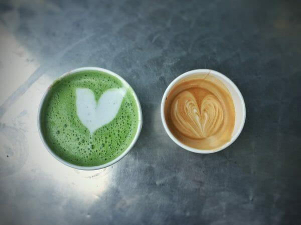 matcha tea versus coffee